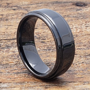 8mm plato black step edges ceramic rings