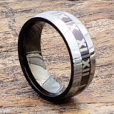 8mm rome roman numeral personalized signet rings