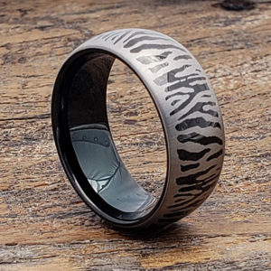 9mm black metal unique rings