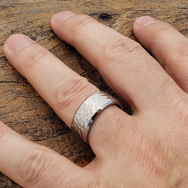 Forever-Metals-silver-beveled-hammered-rings