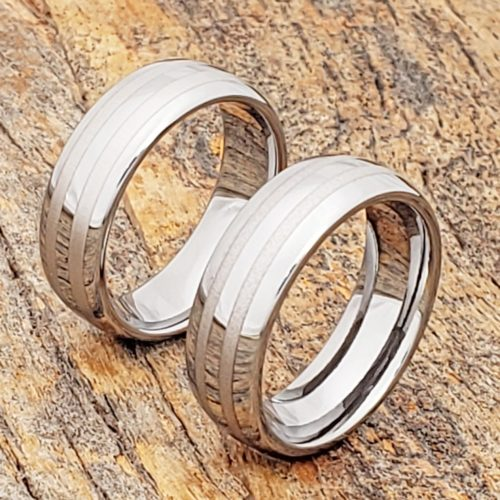 Ares Mens Parallel Inlay Rings