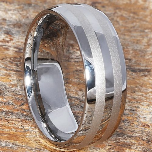 Ares Laser Metal Inlay Rings