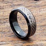 black-beveled-claddagh-rings