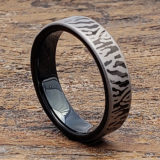black flat unique rings