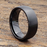 brushed black ceramic rings