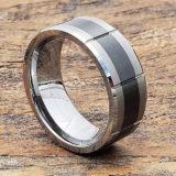 brushed black inlay ceramic rings