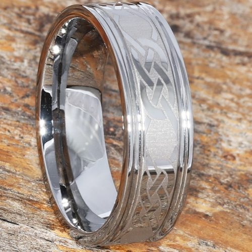 Calypso Irish Love Grooved Celtic Rings