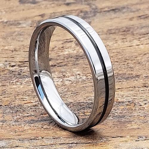 Demeter Carved Black Inlay Rings