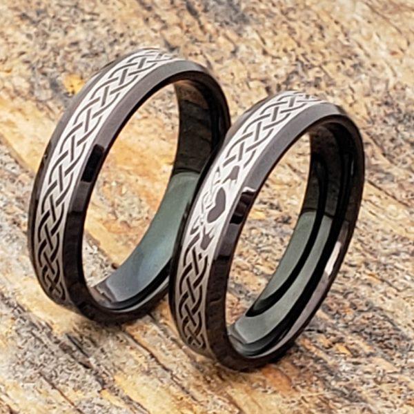 clatter-5mm-promise-black-beveled-claddagh-rings