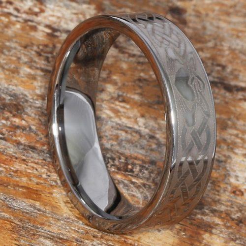 Clatter Irish Flat Claddagh Rings