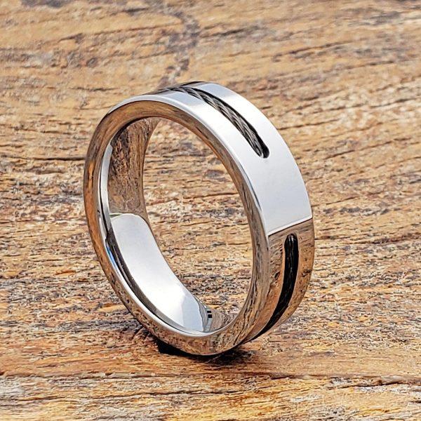 corvus-6mm-mens-black-steel-cable-inlay-rings
