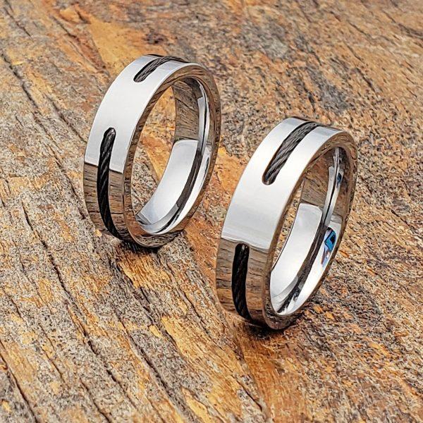 corvus-mens-black-steel-cable-inlay-ring