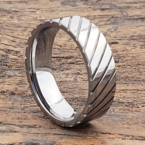 diagonal grooved unique rings