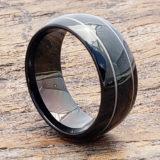dorado mens two thin inlay rings