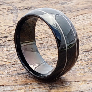 dorado mens two thin inlay rings