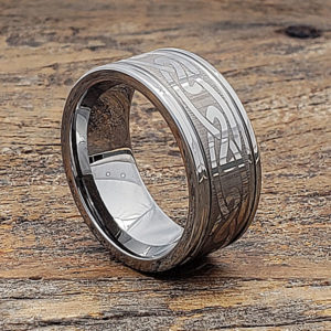 eternity silver knot grooved celtic rings