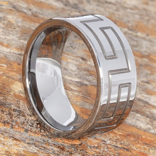 Glacier Mens Great Wall Signet Rings