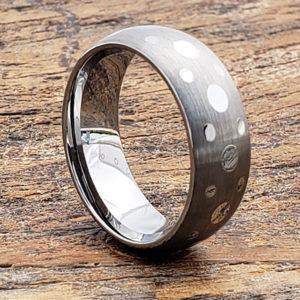 grace matching matte brush unique rings