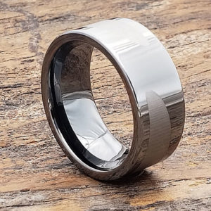 gunmetal black ice unique rings