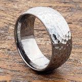 hammered rings mens peened