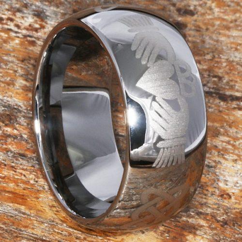 Helios Irish Mens Knotwork Claddagh Rings