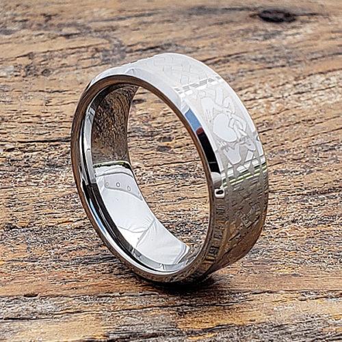 Clatter Irish Style Beveled Claddagh Rings
