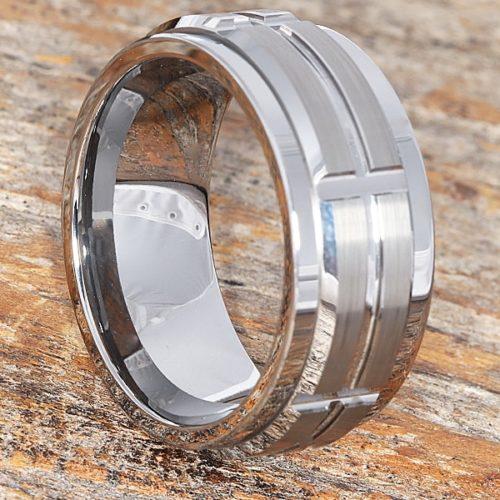 Jasper Spinner Brushed Unique Rings