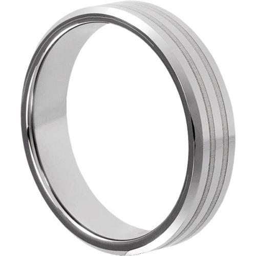 Leda Mens Beveled Inlay Rings