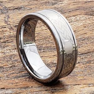 love knotwork grooved celtic rings