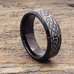 medieval-irish-black-beveled-celtic-rings