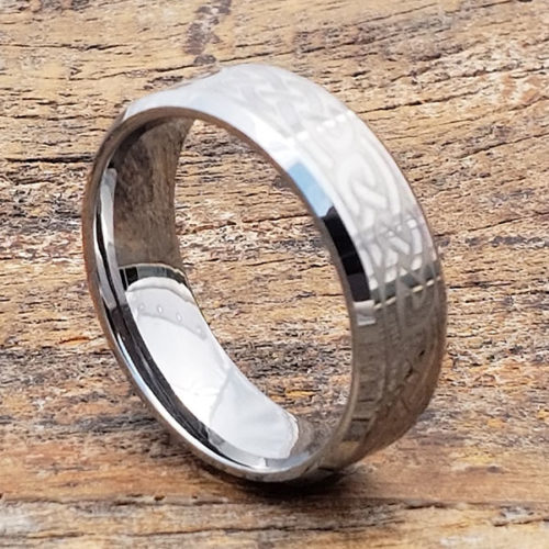 Medieval Irish Carbide Beveled Celtic Rings