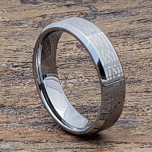 Medieval Knotwork Irish Beveled Celtic Rings