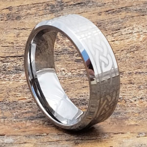 medieval silver irish beveled celtic rings