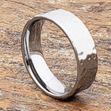 men flat hammer rings