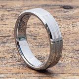 mens beveled inlay rings