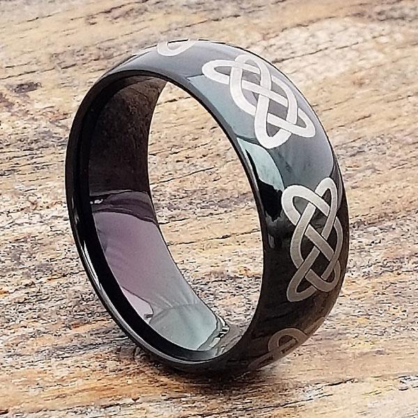 mens-black-comfort-fit-knotwork-claddagh-ring