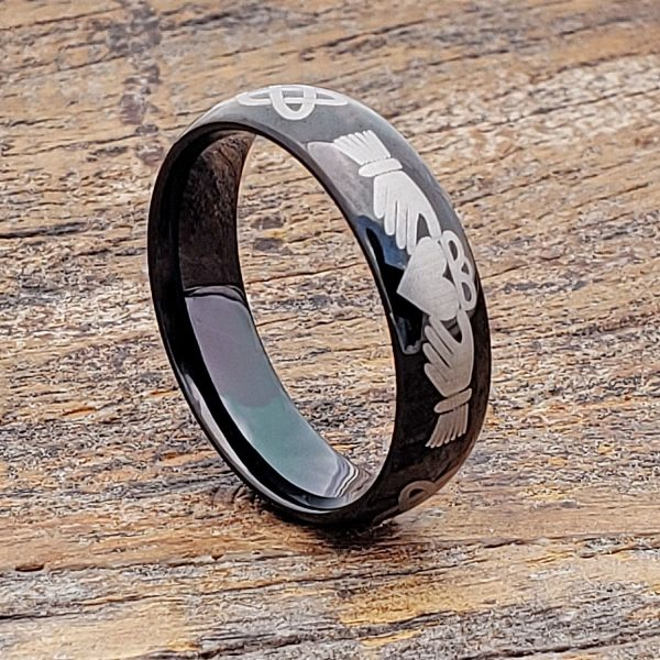 mens-black-knotwork-mens-claddagh-rings