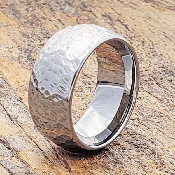 mens-peen-hammered-ring