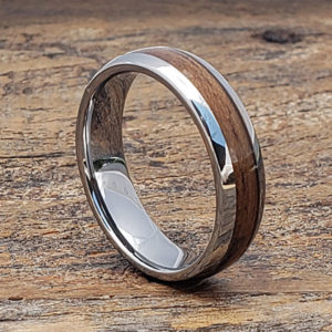 mens redwood wooden rings