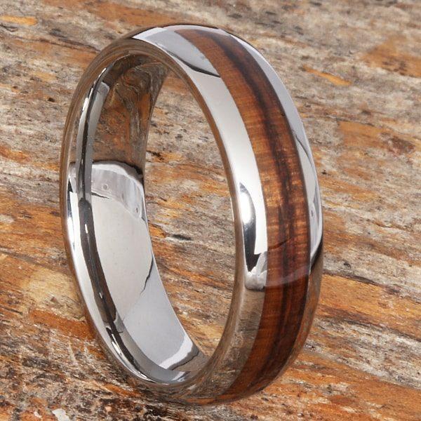 Neptune Mens Redwood Wooden Rings