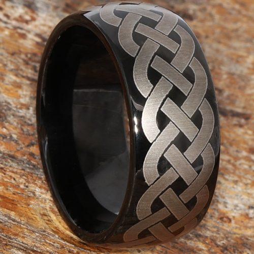Octavian Unique Black Rope Celtic Rings