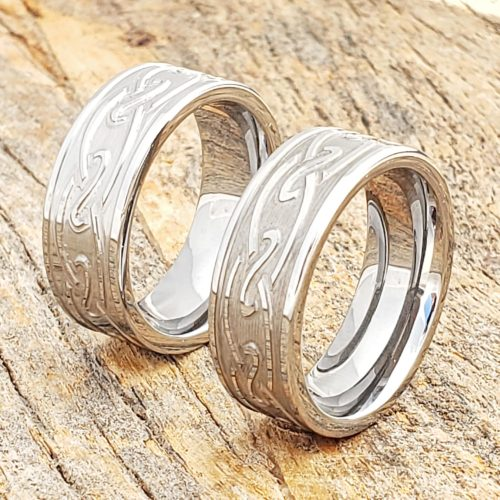 Oracle Carved Endless Knotwork Celtic Rings