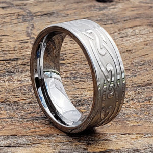 oracle carved endless knotwork celtic rings