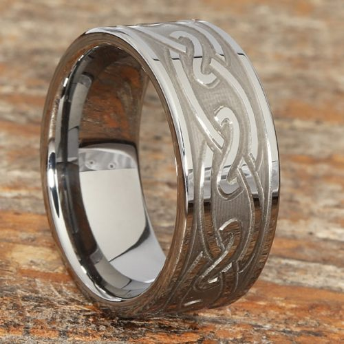 Oracle Carved Knotwork Celtic Rings