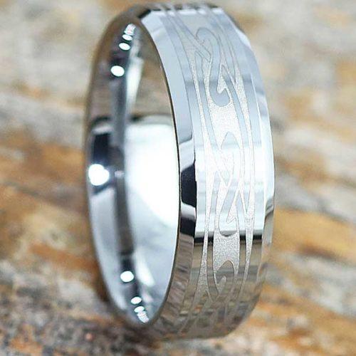 Oracle Eternity Knotwork Beveled Celtic Rings