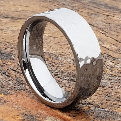 Peened Tungsten Flat Hammered Rings