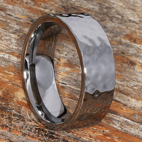 Pipe Cut Hammered Rings