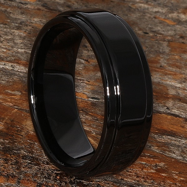 plato black step down edges ceramic rings