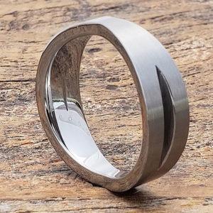 sculpted unique ring 6mm