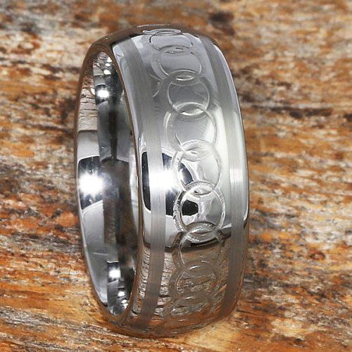 Sparta Chainlink Interlocking Signet Rings